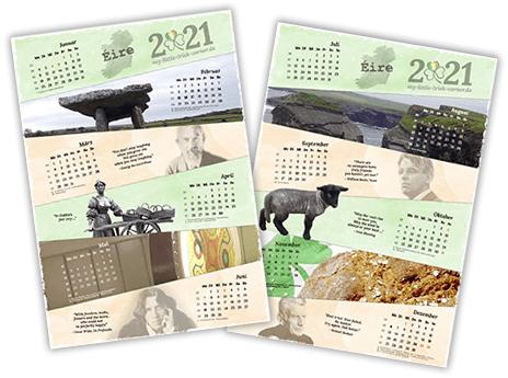 Irland Kalender 2021 zum Download - Vorschaubild